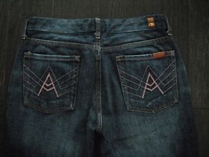 Ladies 7 For All Mankind A Pocket Flare Jeans Size 29 London Ontario image 2