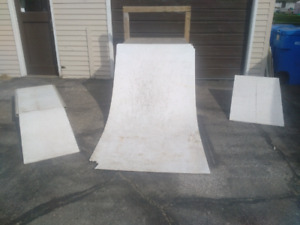 Skate Scooter Ramps Quarter Pipe