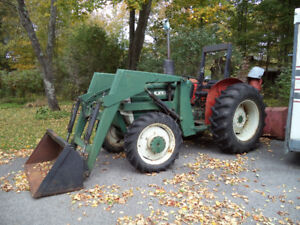 Oliver 65 HP 4x4 Tractor w/Loader & Blower