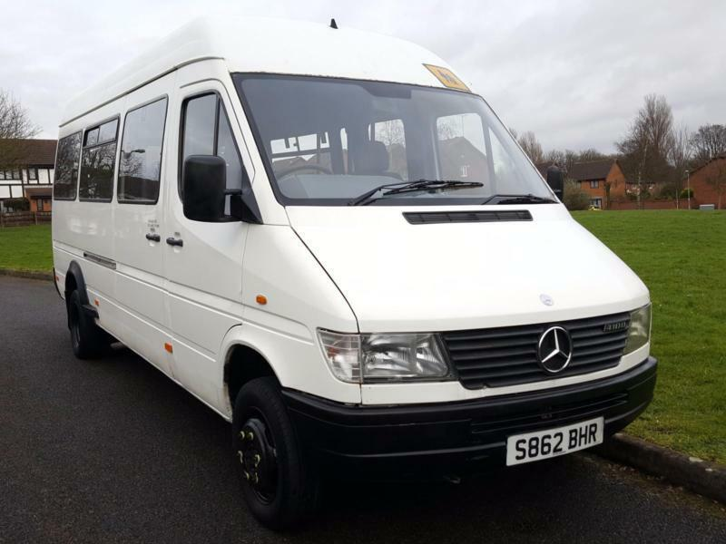 Mercedes benz sprinter 2 9 td 410 d 17 seater minibus for Mercedes benz 2 seater