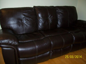 Leather Sofa and Matching chair