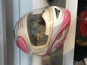 Icon XXS women's sport motorcycle helmet pink