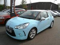 2010 Citroen DS3 1.4VTi ( 95bhp ) DSign Low Miles Only 43K FSH LowIns Blue/White
