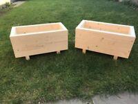 Garden wooden pots