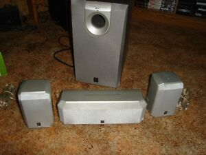 YAMAHA 4 PC SURROUND SOUND SPEAKER SET - CENTRE,FRONTS & SUB !!