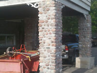 brick repair block, stone pointing and install