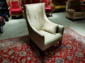 Art-Deco Fabric Chair