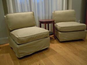 Pottery Barn Armless Chair
