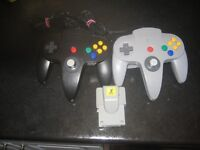 n64 controllers and rumble pack