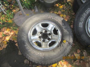 Tires off a chevy truck
