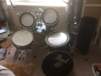Pearl export drum kit + accessories