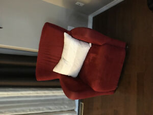 Red Microfibre accent chair