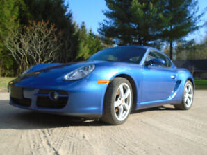 2008 PORSCHE CAYMAN. BLUE. 5 SPEED. 2.7 LT. CLEAN TITLE.