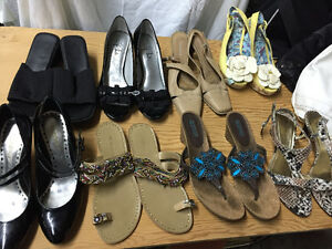 8 pairs of size 7.5 shoes