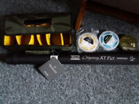 Fly Rod #8 Shakespeare odyssey XT - 2.7m, 3 Lines and reel case