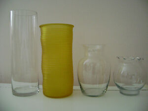 EUC Vases – $10 for all (SIZES & prices LISTED BELOW)