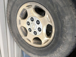 4 rims and tires 1/2 ton chev
