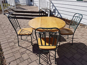 Five Piece Dining Set - Iron and Wood