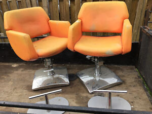 Pair of Retro Barber's chairs