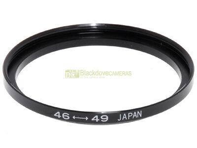 Anello adattatore step up 46/49mm. x montare filtri 49mm. su obiettivi diam. 46