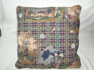 "Golf theme throw pillow 15"" x 15"". New! Excellent Condition!"
