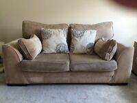 2 Seater Sofas x2 & Pouffe with internal storage £400