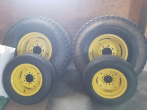 Set of 4 tractor turf tires