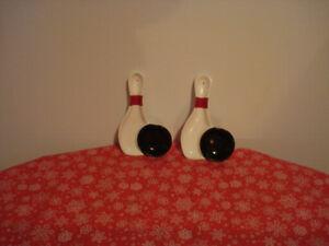 2 ensemble d'une quille + boule (faits de mes mains en poterie)