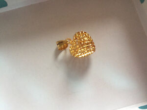 21k gold heart charm for necklace