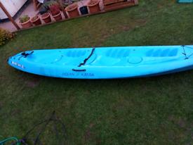 2+1 sit on sea kayak ocean Malibu two xl +seats +paddles