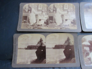 4 Stereoscope viewer cards - Underwood Publishers