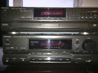 Technics Stereo Receiver, 5-Disc CD Changer and Speakers