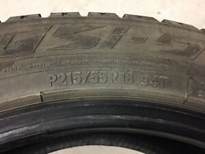4 Winter Tires Toyo Obseve GSi-5 P215/55R18 T94 Used 1 Winter West Island Greater Montréal image 2