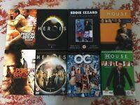 8 DVD Boxset Collection inc Heroes, The OC, House, Prison Break & Eddie Izzard