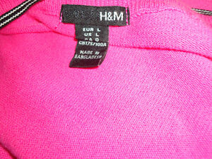 Ladies Size L/G Neon Pink Cardigan by H&M Kingston Kingston Area image 3