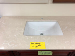 CLEARANCE all vanity countertops in showroom!!!