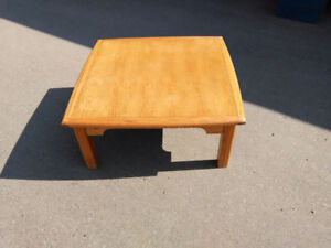 Table. About 3 1/2 ft square.
