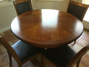 4ft. Round solid wood table