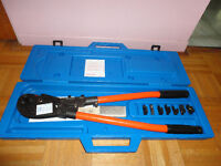 Complete Heavy Duty Power Lugs Crimper Set with long hands