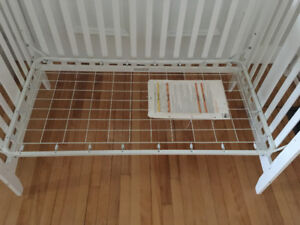 White Delta Baby Crib & Mattress