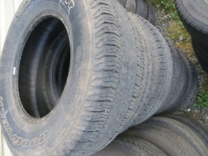 4 P255/75R17 GOODYEAR WRANGLER WHITE LETTERED TIRES  $320.00