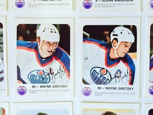 1986-87 EDMONTON OILERS RED ROOSTER HOCKEY CARDS X28 GRETZKY London Ontario image 3