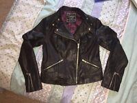 New Look Ladies Leather Jacket NEW