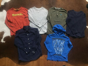15 Pieces of Boys Fall-Winter Clothing Sizes M-L Mexx, Bench etc