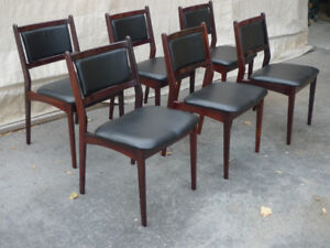 Rosewood not Teak Mid Century Dining Chairs