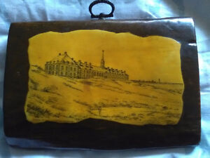 A very old picture of louisbourg made out of drift wood rare ...