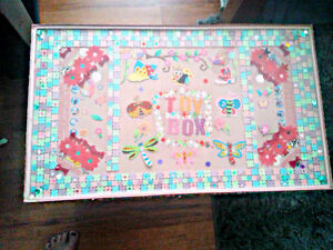 HANDCRAFTED GIRL'S TOY BOX