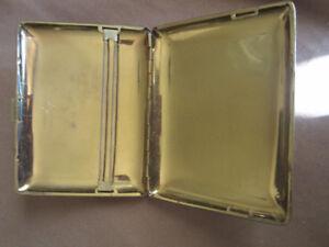 Antique gold plated cigarette case holder.  Standphast Goldoid
