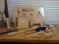 Nintendo Wii, Wii Fit, Wii Draw + Accessories & Games