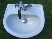 A Good Size Wash Basin with Mixer Tap for Office or small toilet